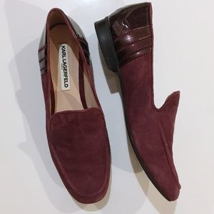 Karl Lagerfeld Sz 8.5 Suede Loafers